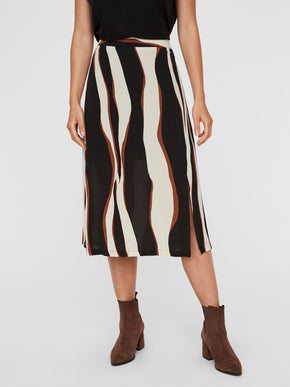 FIDELA HIGH WAIST MIDI SKIRT