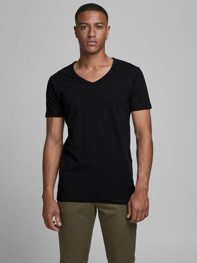 BASIC V-NECK T-SHIRT BLACK