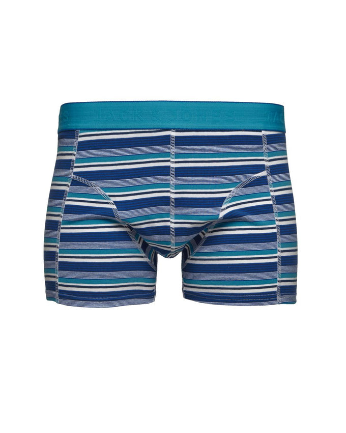 JJMULTICOLORED STRIPED BOXERS Estate Blue
