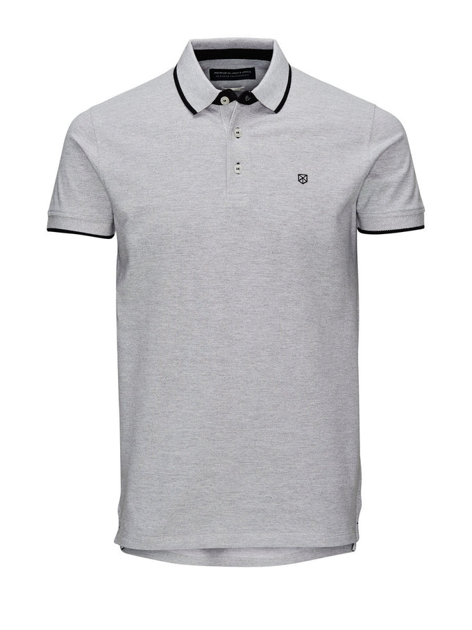 JJPRPAULOS POLO LIGHT GREY MELANGE