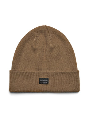 ROLL UP BEANIE WITH EMBROIDERED LOGO