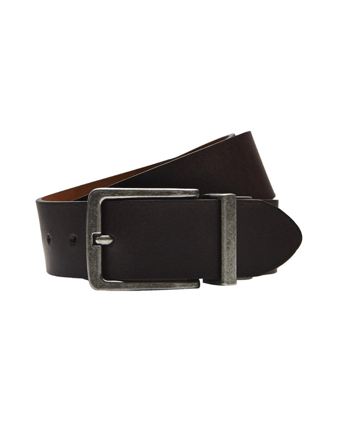JJREVERSE LEATHER BELT BLACK COFFEE