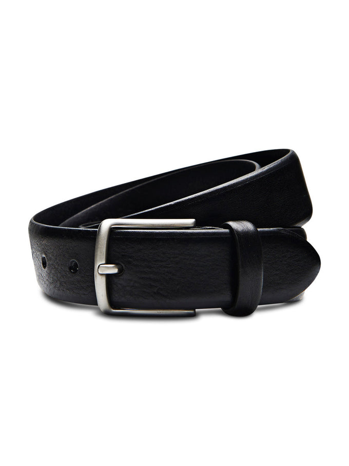 JJDOMED LEATHER BELT BLACK