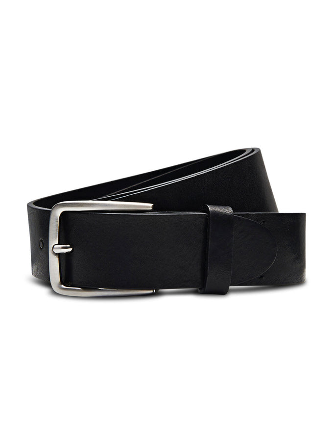 JJCLASSY LEATHER BELT BLACK