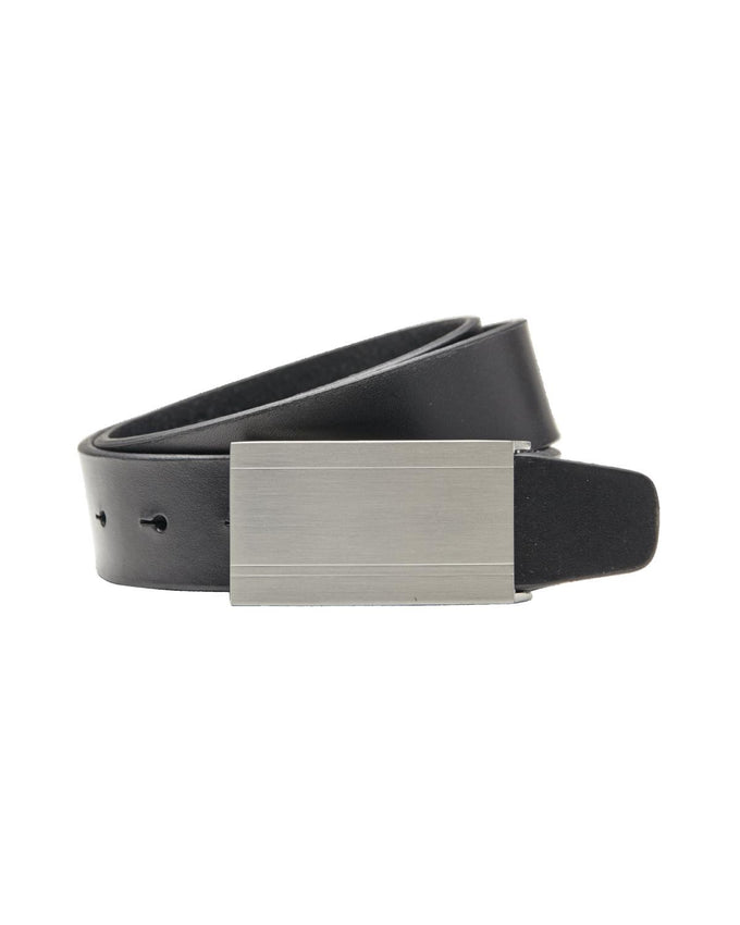 JJPLATE LEATHER BELT BLACK