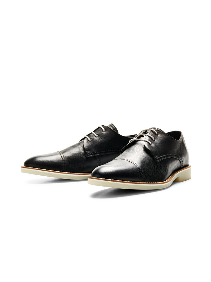 JJBILLY LEATHER SHOES ANTHRACITE