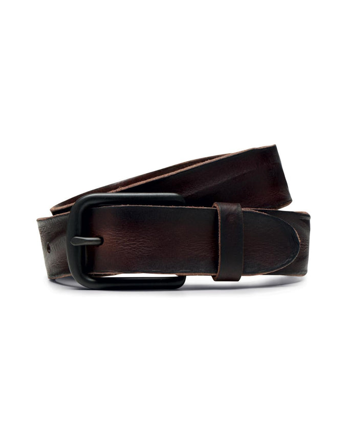 JJACBRICE LEATHER BELT BLACK COFFEE