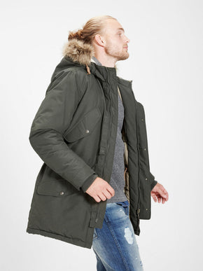 PARKA WITH TEDDY LINED HOOD