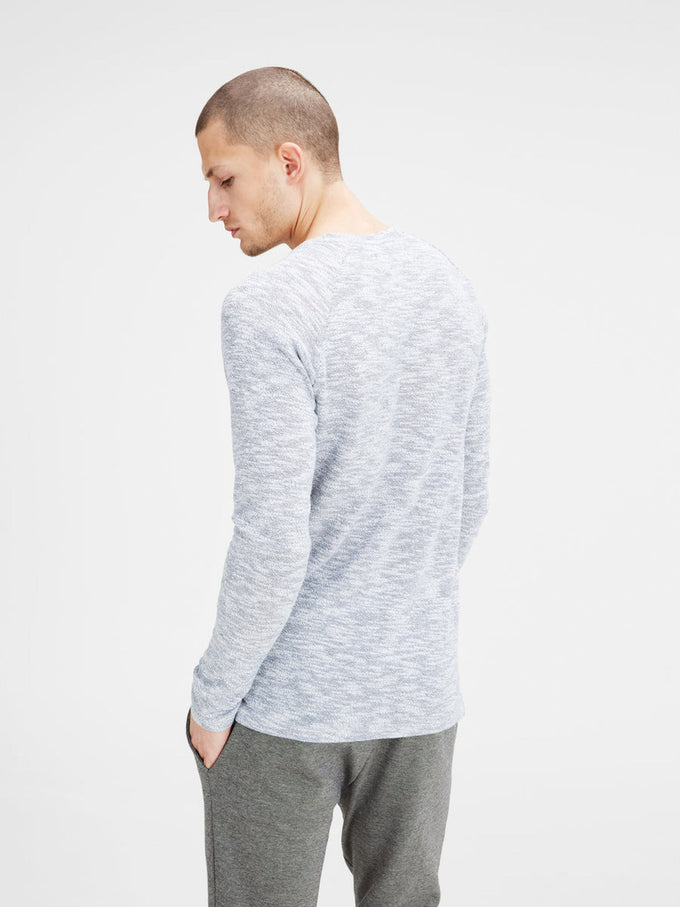HEATERED SWEATER GRISAILLE