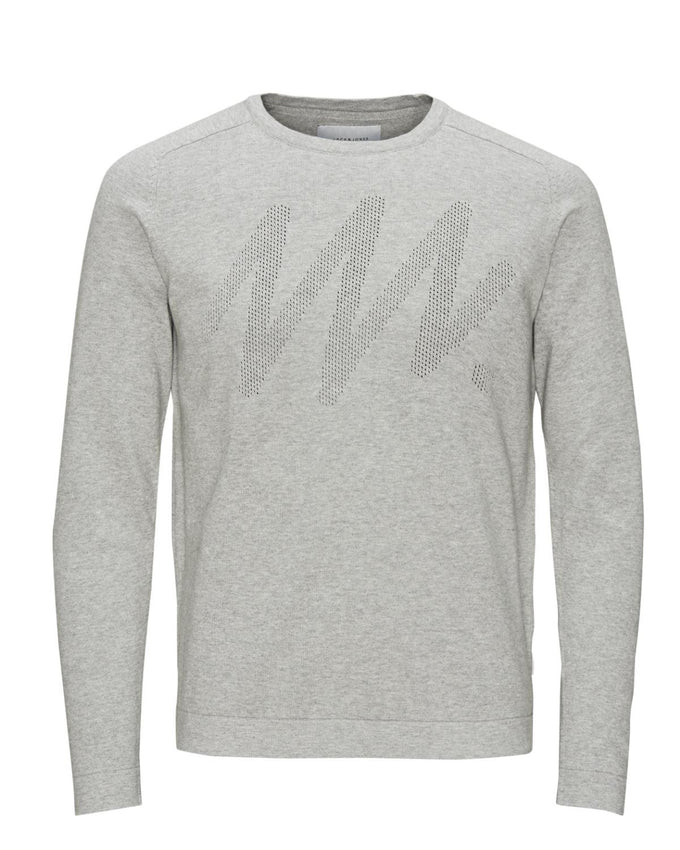 JJCOBIT SWEATSHIRT Light Grey Melange
