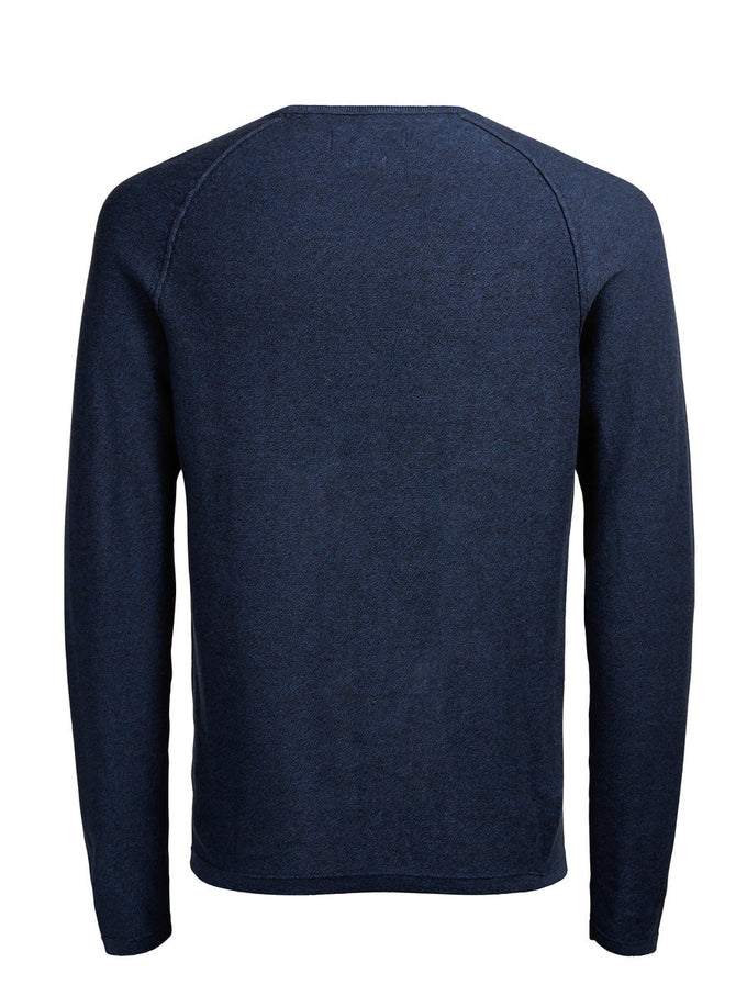 JJPRTREVOR SWEAT Navy Blue