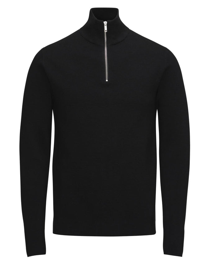 JJPRBENNY TURTLENECK ZIP Black