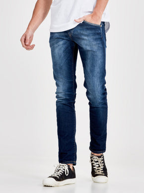 GLENN 669 INDIGO KNIT STRETCH SLIM FIT JEANS