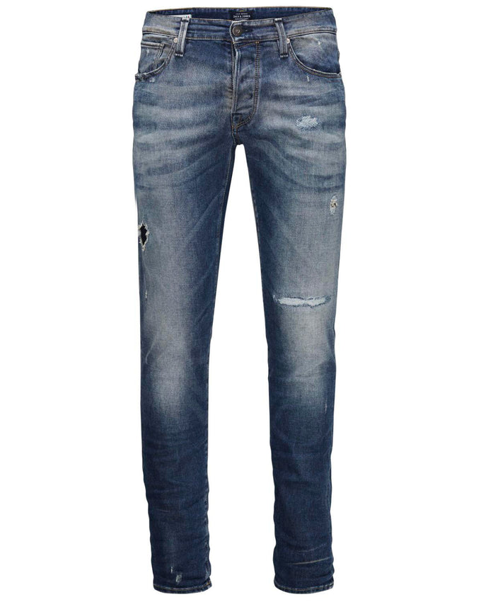 JJGLENN ICON 670 INDIGO KNIT JEANS Blue Denim