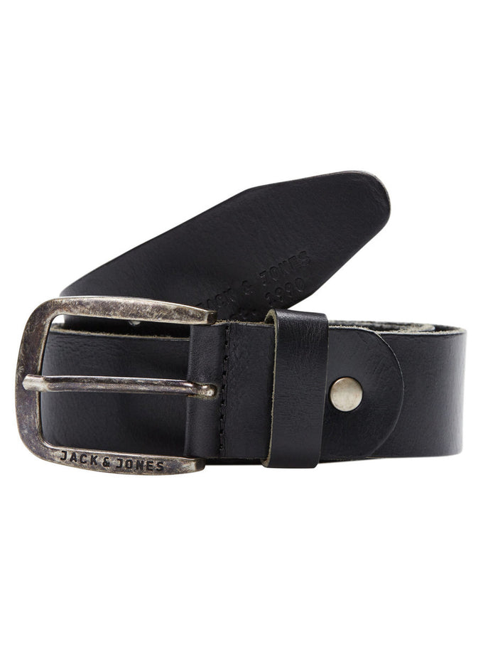 JJACPAUL LEATHER BELT BLACK