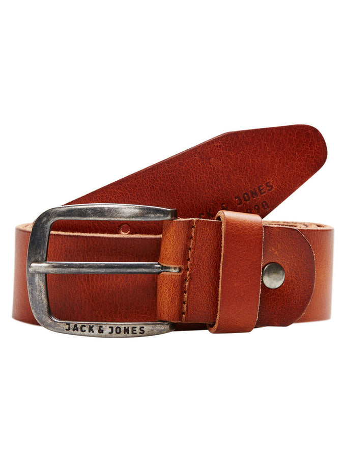 JJACPAUL LEATHER BELT MOCHA BISQUE