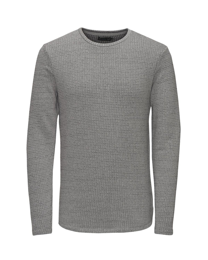 JJORCORONA SWEAT Grey Melange