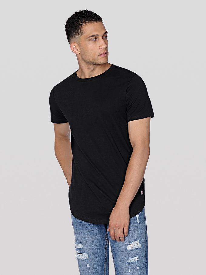 BASIC LONG FIT T-SHIRT BLACK