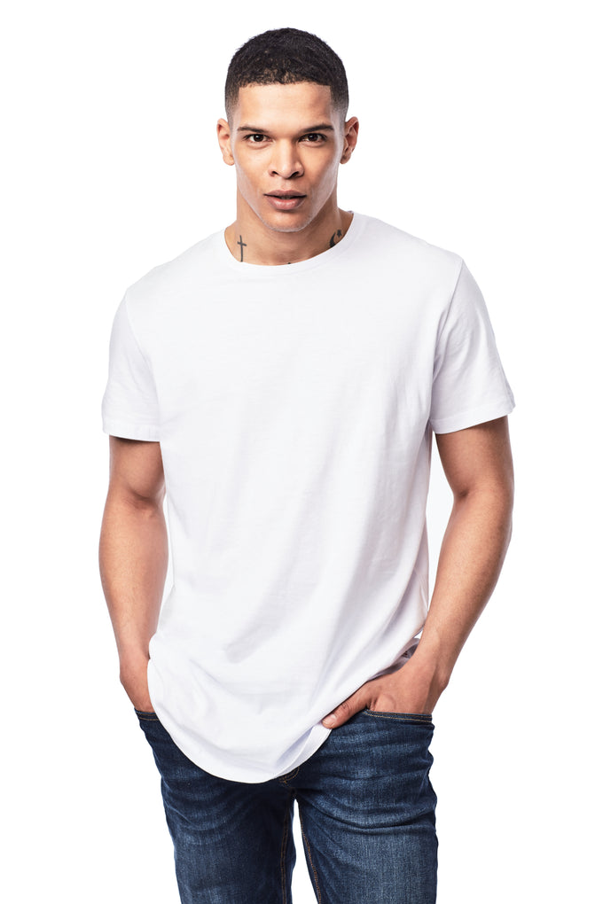 BASIC LONG FIT T-SHIRT WHITE