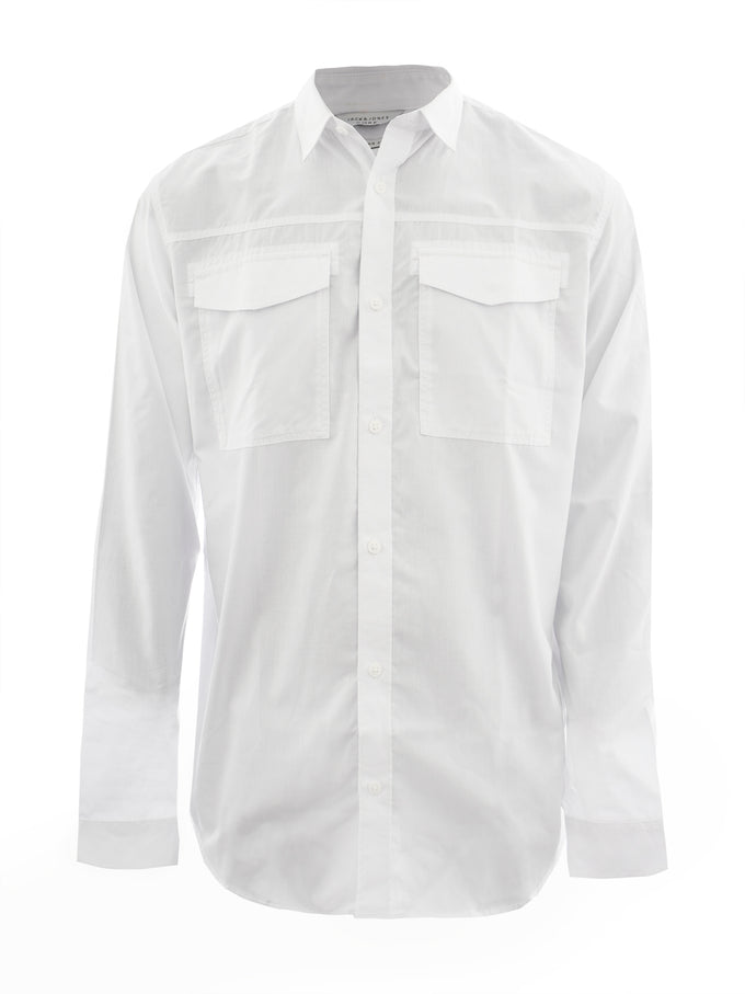 CHEMISE CORE STYLE UTILITAIRE BLANC