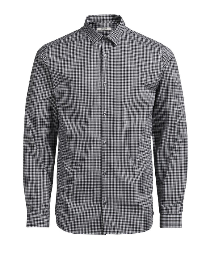 JJPRTULSA CHECKERED SHIRT Light Grey Melange
