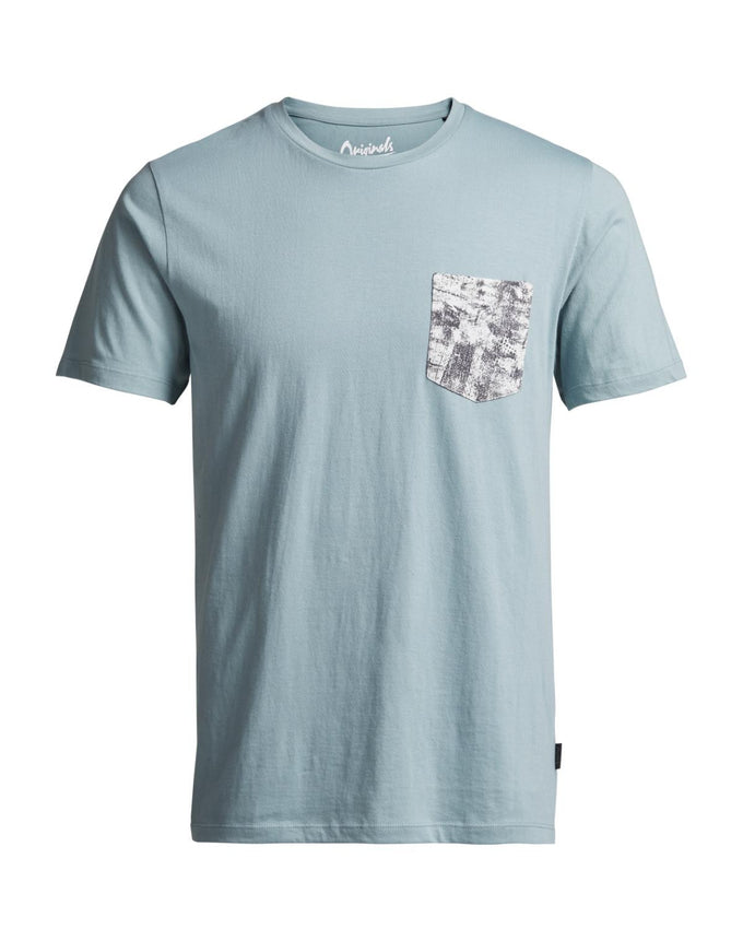 POCKET DETAIL T-SHIRT AQUA