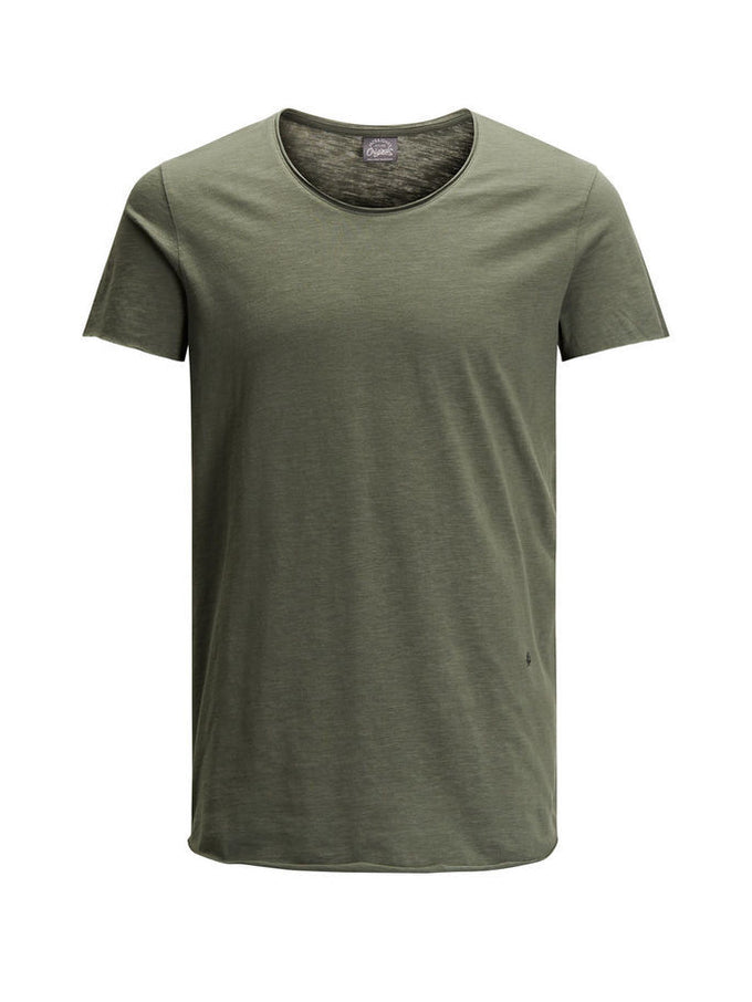SCOOP NECK CASUAL T-SHIRT IVY GREEN
