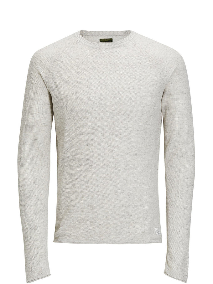 TWO-TONE LIGHT SWEATER SAND