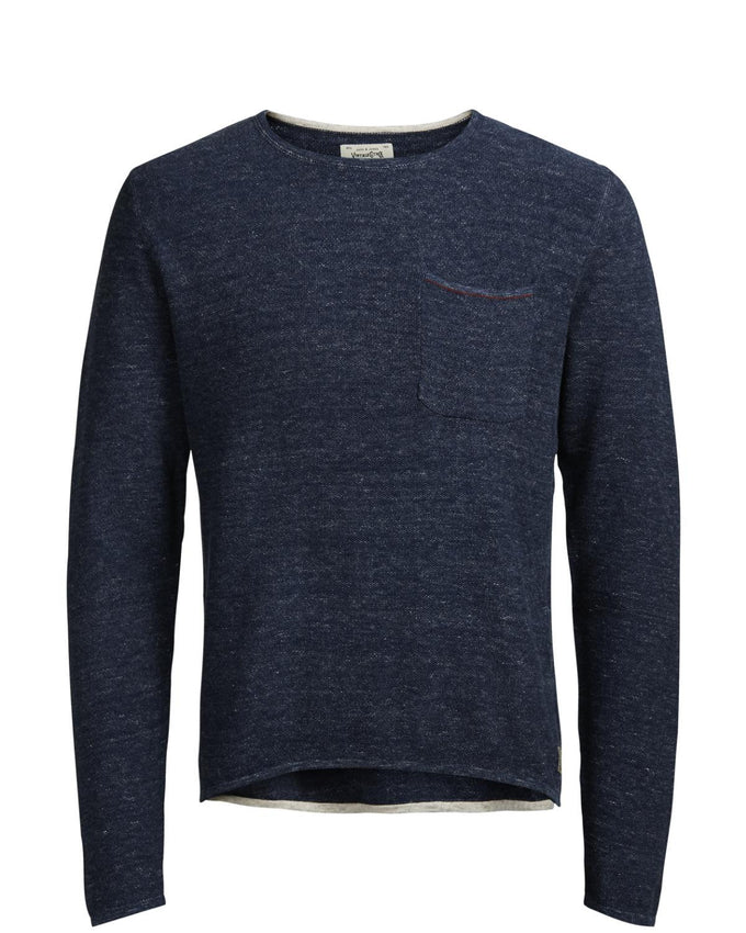 TWO-TONE LIGHT SWEATER TOTAL ECLIPSE