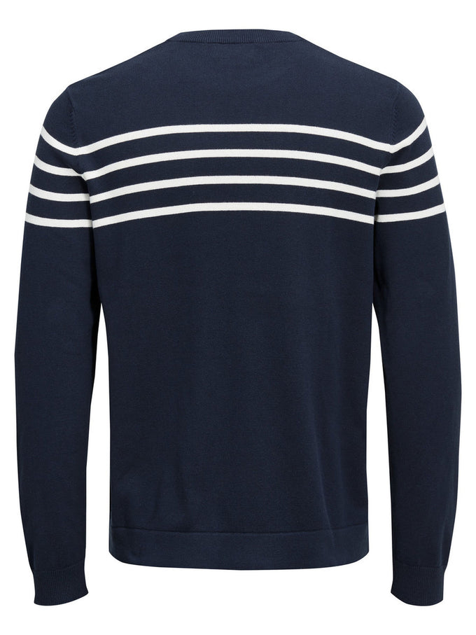 STRIPE DETAIL SWEATER TOTAL ECLIPSE