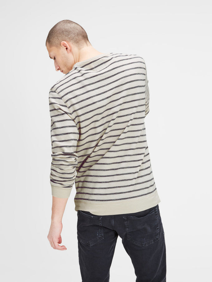 STRIPED LIGHT SWEATSHIRT FOG