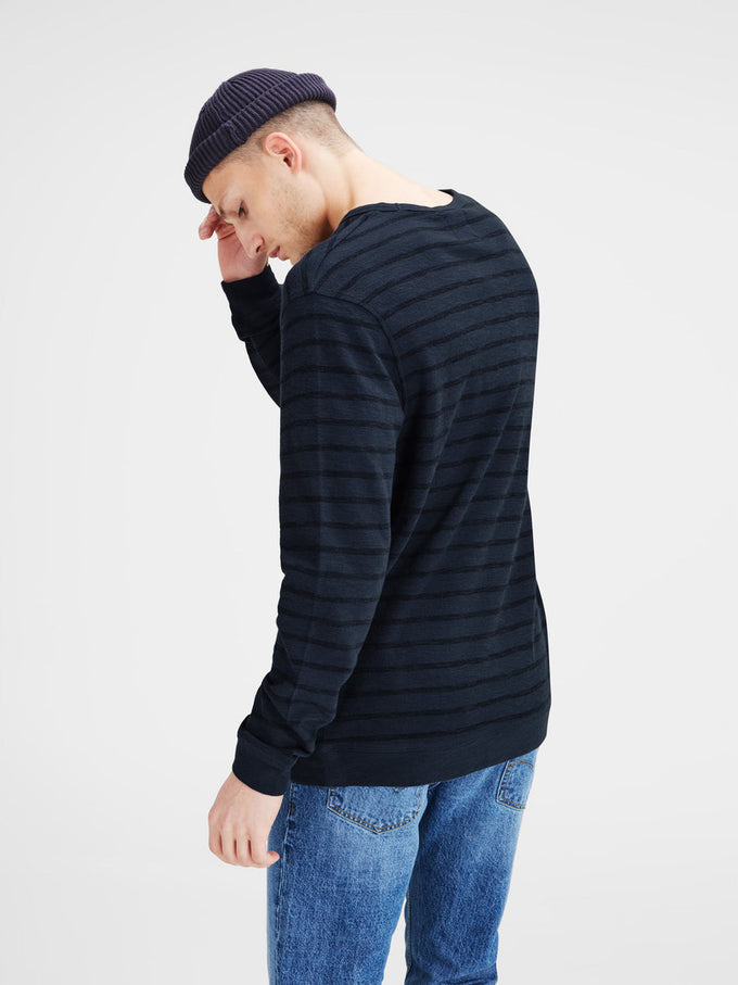 STRIPED LIGHT SWEATSHIRT MOOD INDIGO