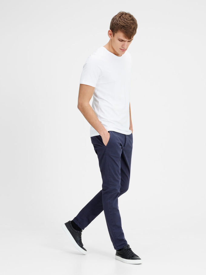 NAVY MARCO FIT CHINO PANTS Navy Blazer