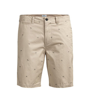 ALL-OVER PRINT LONG CHINO SHORTS