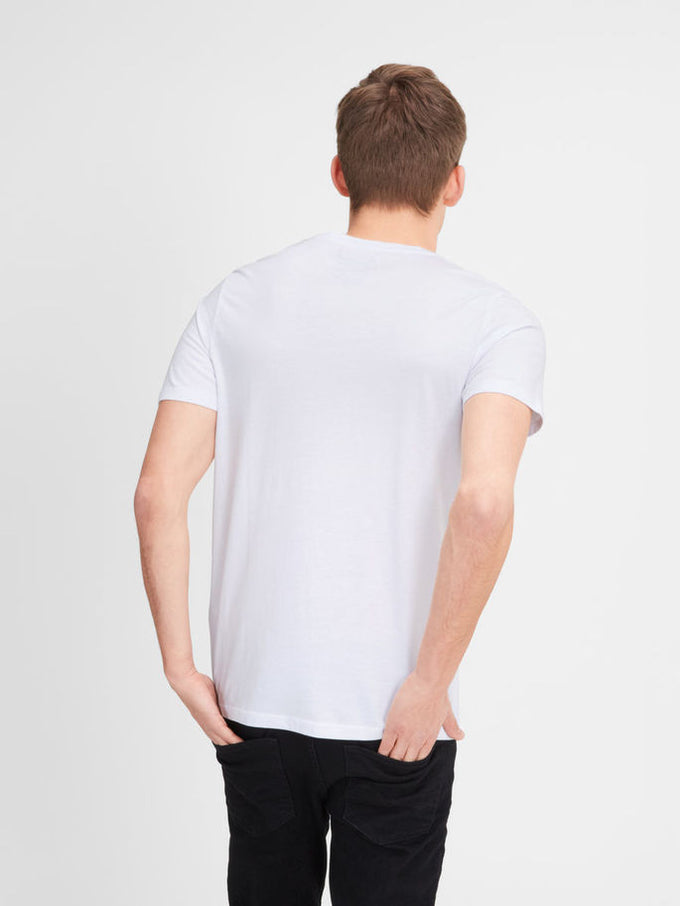 T-SHIRT JJORCARTOON BLANC
