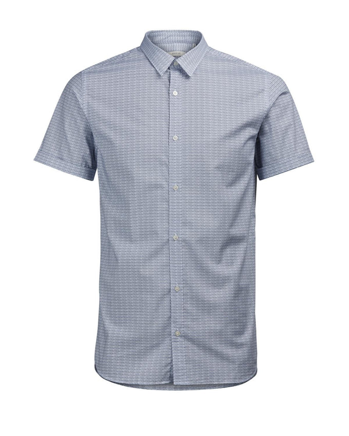 ALL-OVER PRINT SHORT SLEEVE SHIRT CASHMERE BLUE