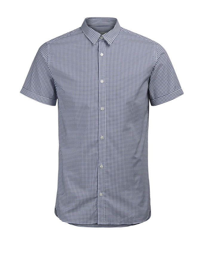 ALL-OVER PRINT SHORT SLEEVE SHIRT DARK NAVY