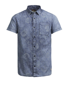 PRINTED DENIM POCKET SHIRT