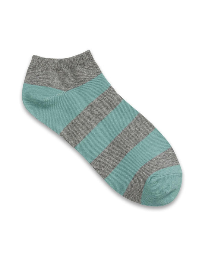 STRIPED COLOURFUL SHORT SOCKS AQUA