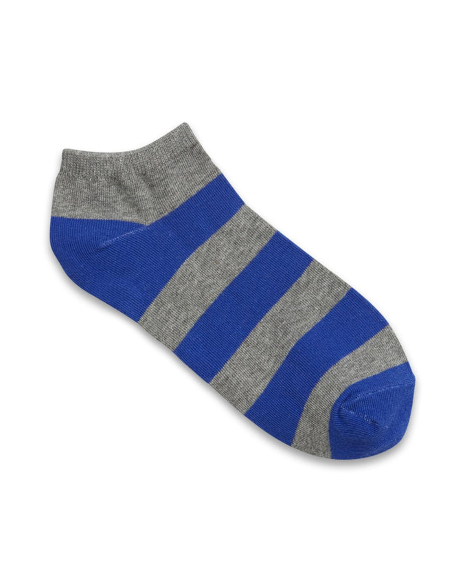 STRIPED COLOURFUL SHORT SOCKS BLUE