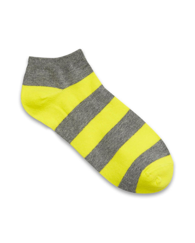 STRIPED COLOURFUL SHORT SOCKS YELLOW