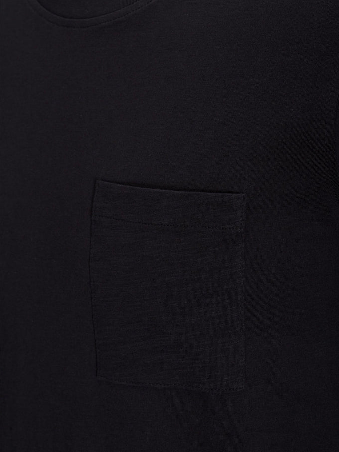 T-SHIRT LONG À SUPERPOSITION NOIR