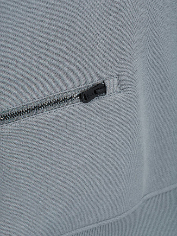 DETAILED SWEATSHIRT ASPHALT