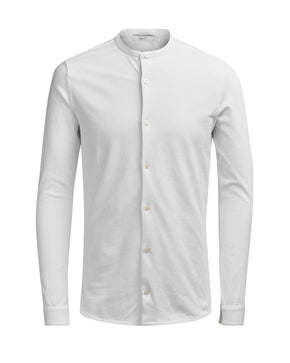 JERSEY SHIRT WITH MANDARIN COLLAR