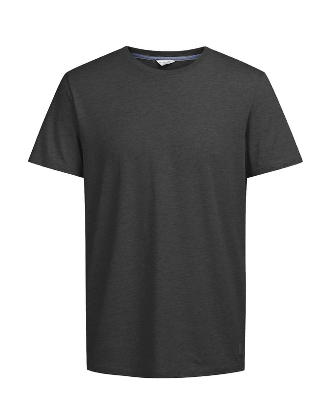 HEATHERED T-SHIRT BLACK