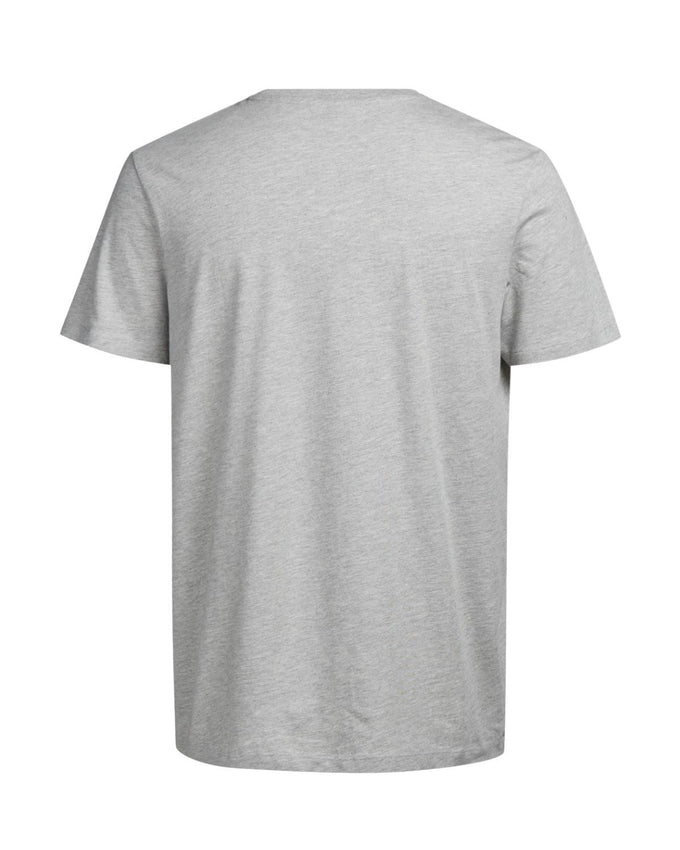 HEATHERED T-SHIRT LIGHT GREY MELANGE