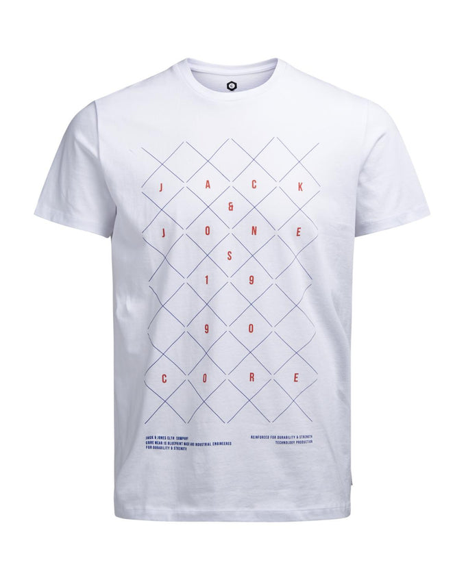 GEOMETRIC PRINT T-SHIRT WHITE