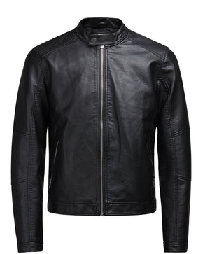 MOTO STYLE PREMIUM FAUX LEATHER JACKET