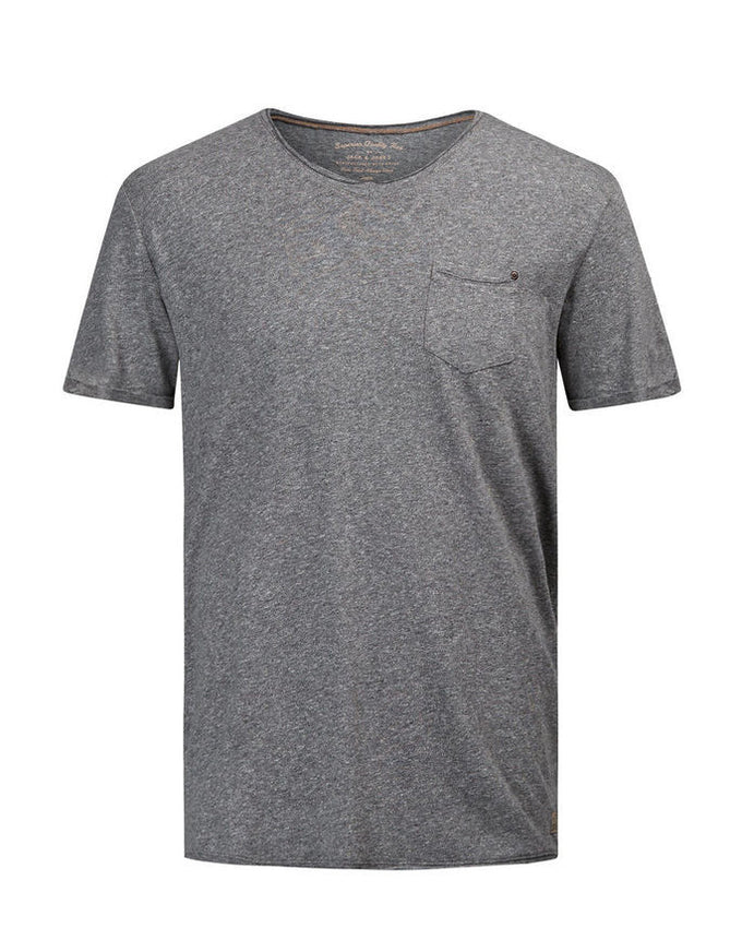 JJVCFRANCO T-SHIRT DARK GREY MELANGE