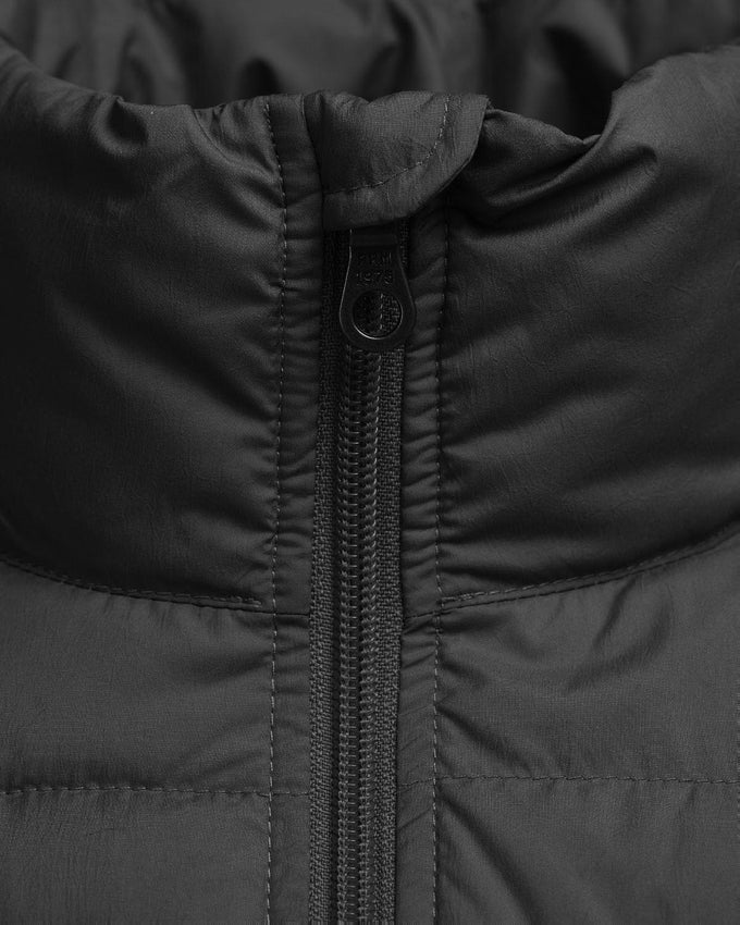 HIGH-NECK LIGHTWEIGHT QUILTED JACKET BLACK